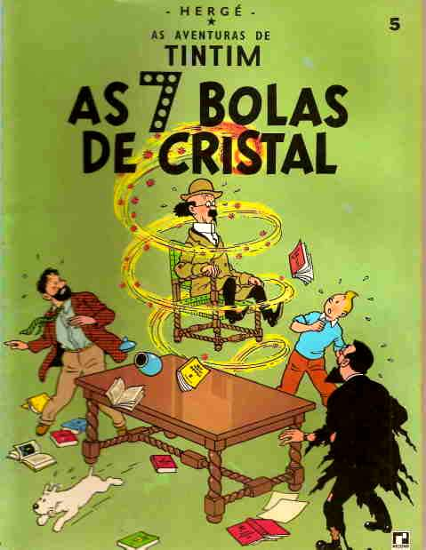 AS AVENTURAS DE TINTIM - AS 7 BOLAS DE CRISTAL